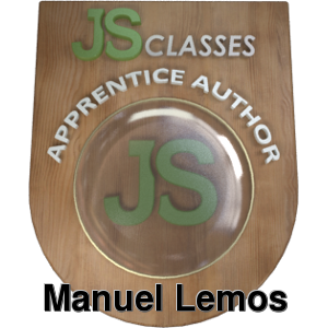 JavaScript master level badge example