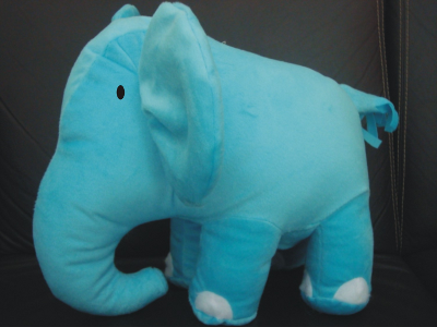 Prototype of the elephant plush toy prize