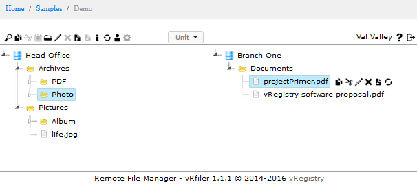 Front-end interactive treeview - JS Filer package blog - JS